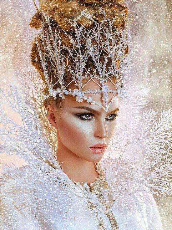 Фотосессия в образе снежной королевы