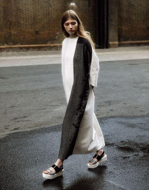 Асимметричное платье Street Style