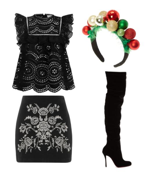 Черная блуза из шиться на праздник
