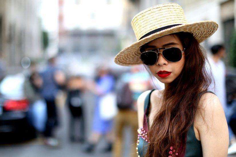 Шляпа канотье в летних образах
