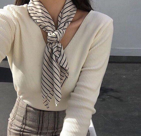 платок шейны полосаный