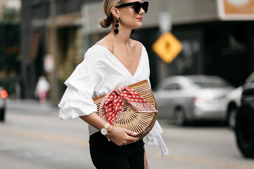 Шейный платок на шее, ноге, сумке…