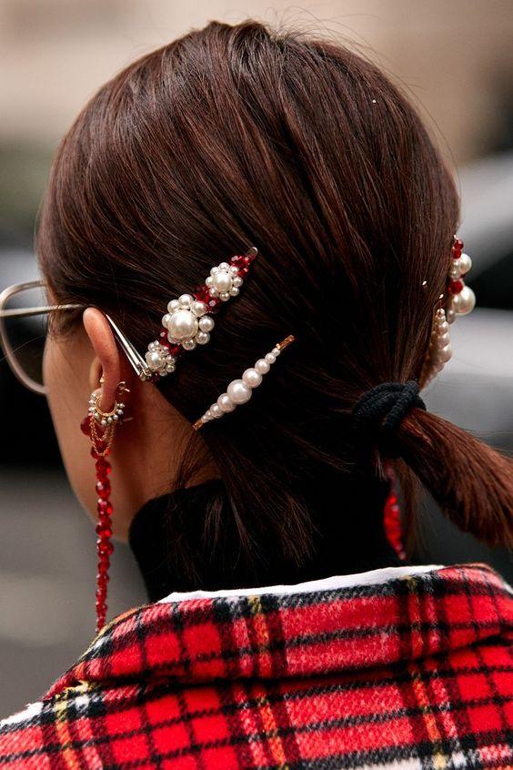 Заколки для волос с жемчугом