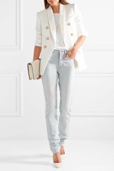 Белый пиджак Balmain