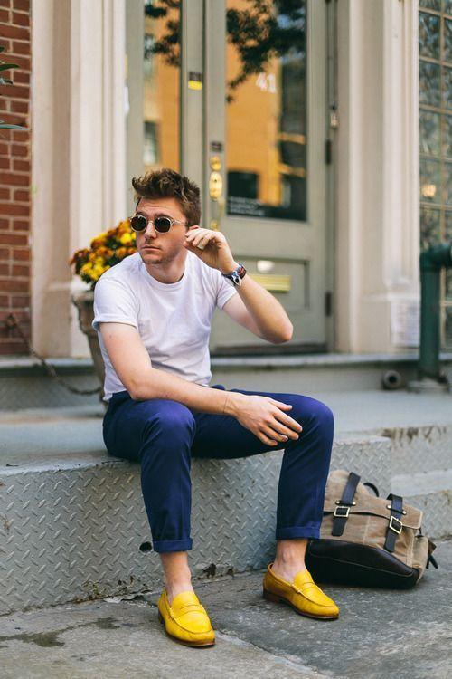 мокасины на голую ногу