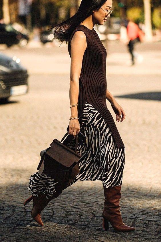юбка принт зебра