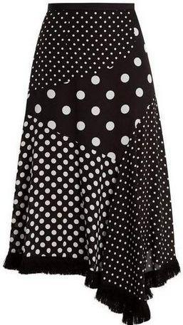юбка в горох с разным принтом