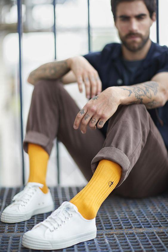 желтые носки стрит стайл