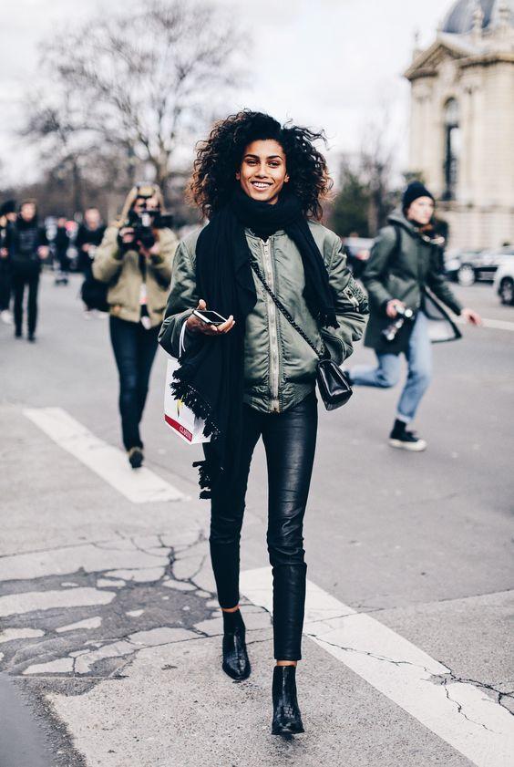 кожаные штаны стрит стайл
