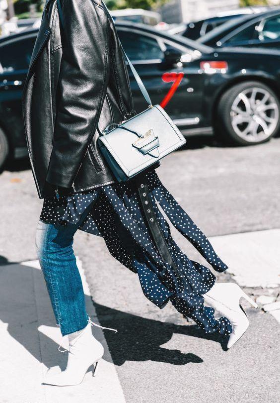 джинсы с с платьем