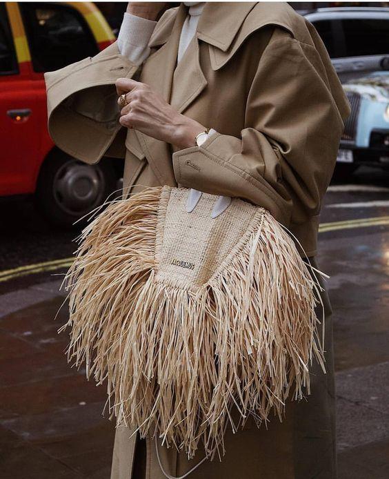 Плетеные соломенные сумки