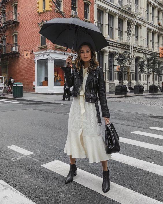 белое платье стрит стайл