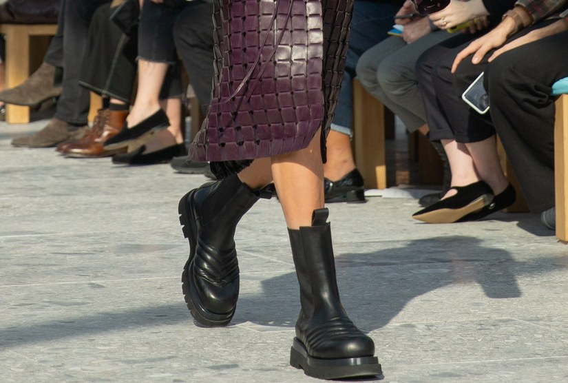 Ботинки Bottega Veneta стрит стайл