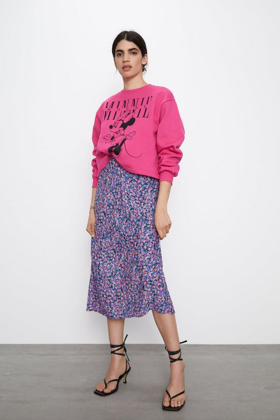 розовый свитшот с юбкой