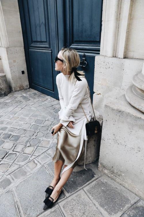 Шелковая юбка свитер