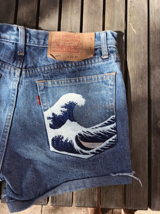 Роспись кармана джинс