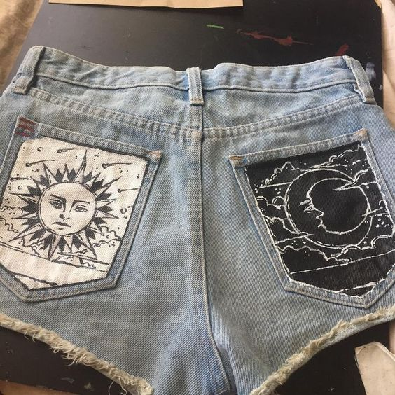 Роспись карманов джинсов