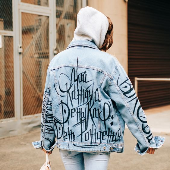 надпись на джинсовой куртке заказать